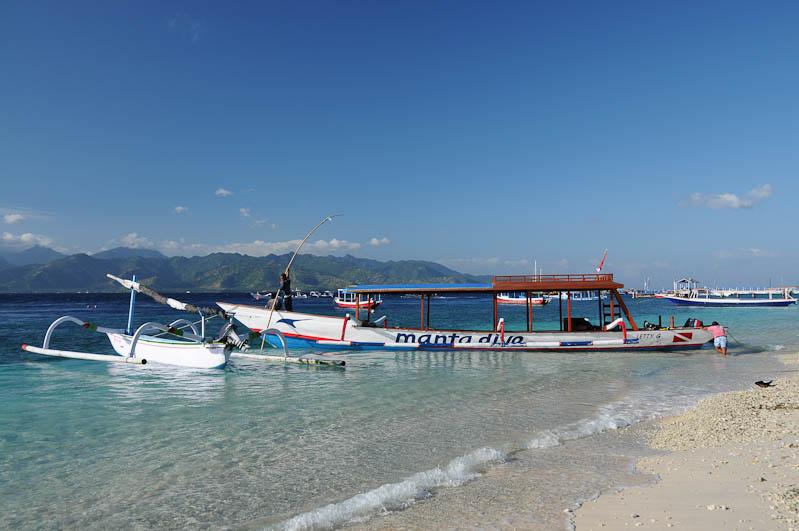 Gili Trawangan, Strand, Beach, Strände, Gili-Inseln, Gilis, Boote, Lombok, Indonesien, Indonesia, Reiseberichte, www.wo-der-pfeffer-waechst.de