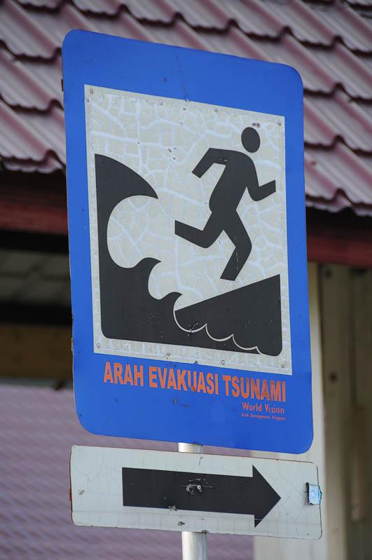 Indonesien, Indonesia, Sumatra, Banda Aceh, Tsunami-Warnschild, Reiseberichte, www.wo-der-pfeffer-waechst.de