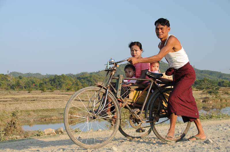 Fahrradrikscha, Mrauk U, Tempel, Pagode, pagoda, paya, Rakhine-Staat, State, Division, Myanmar, Burma, Birma, Reisebericht, www.wo-der-pfeffer-waechst.de