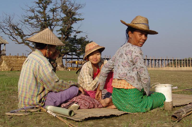Amarapura, U Bein-Teakholzbrücke, bridge, Picknick, Mandalay, Myanmar, Burma, Birma, Reisebericht, www.wo-der-pfeffer-waechst.de