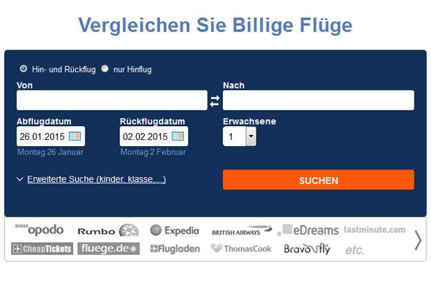 Jetcost.de, Flüge, Hotels, Mietwagen, Suchmaschine, Preisvergleich