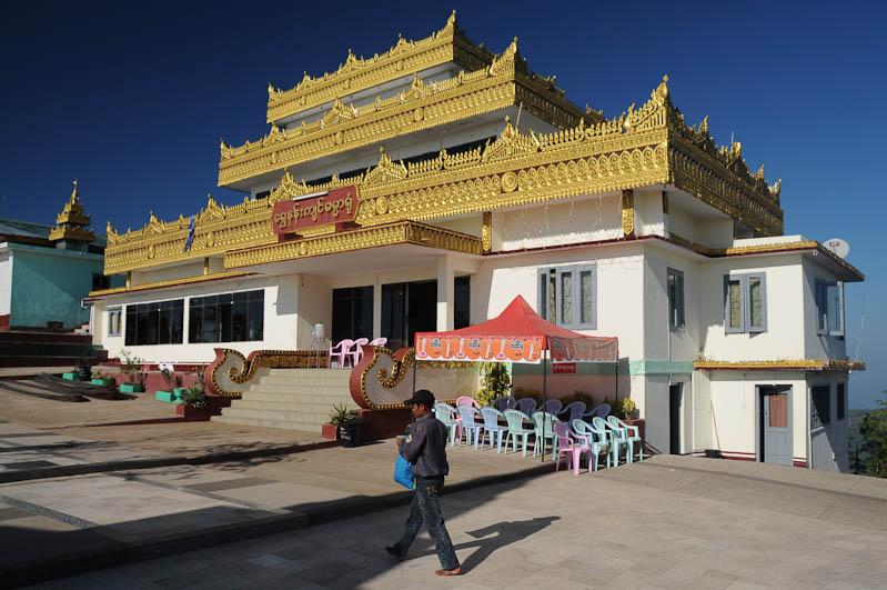 Golden Rock, Goldener Felsen von Kyaiktiyo, Kyaikhtiyo, Gebäude, Myanmar, Burma, Birma, Pilgerfahrt, Pagode, Pagoda, Tempel, Reisebericht, www.wo-der-peffer-waechst.de
