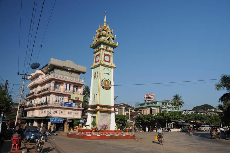 Hpa An, Karen, Kayin, Staat, State, Myanmar, Burma, Birma, Uhrenturm, Reisebericht, www.wo-der-pfeffer-waechst.de