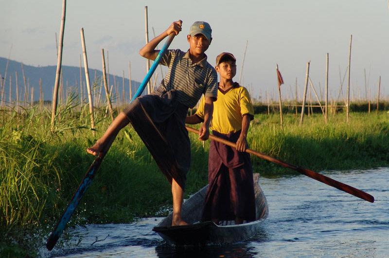 Myanmar, Burma, Birma, Inle-See, lake, schwimmende Gärten, Felder, Intha, Fischer, Volk, Shan-Staat, state, division, Reiseberichte, www.wo-der-pfeffer-waechst.de