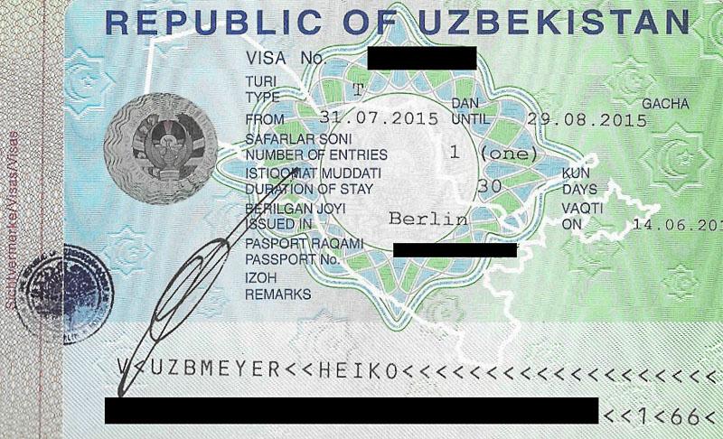 Usbekistan, Uzbekistan, Visum, Visa, Botschaft, embassy, Zentralasien, Seidenstraße, silk road, Reisebericht, www.wo-der-pfeffer-waechst.de