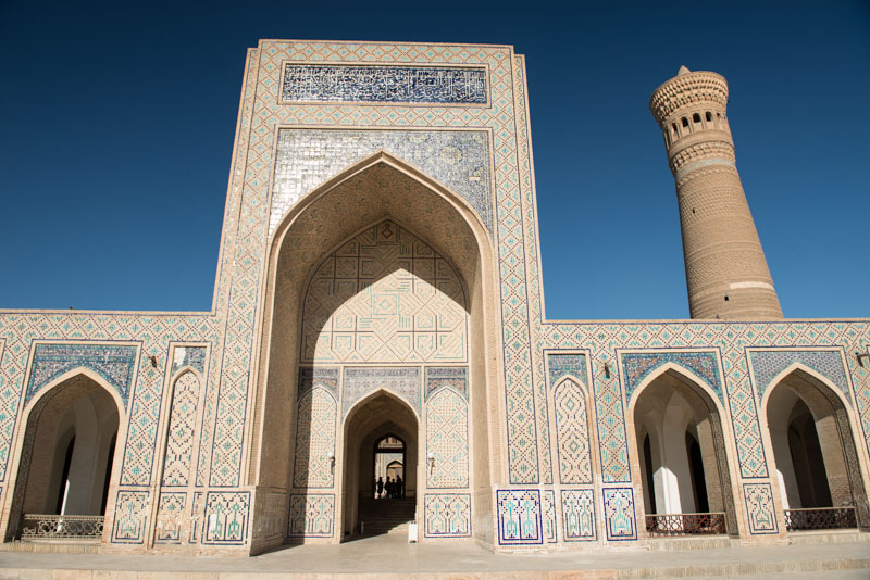 Buchara, Bukhara, Buxoro, Reisen, entlang der, Seidenstraße, Usbekistan, Zentralasien, Kalon-Moschee, Kalon-Minarett, Reiseberichte, www.wo-der-pfeffer-waechst.de