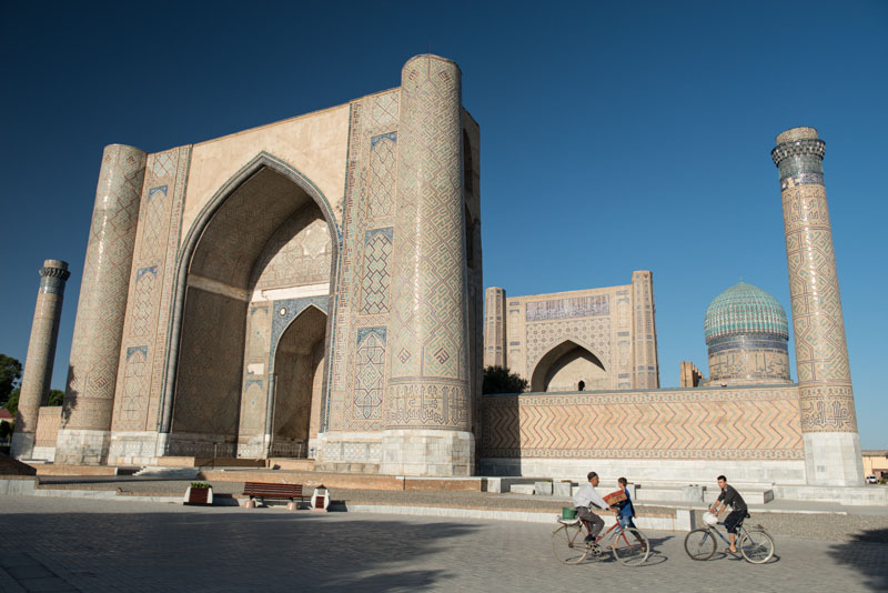 Samarkand, Samarqand, Reisen, entlang der, Seidenstraße, Usbekistan, Zentralasien, Bibi-Khanum-Moschee, Bibi-Chanum-Mosque, Reiseberichte, www.wo-der-pfeffer-waechst.de