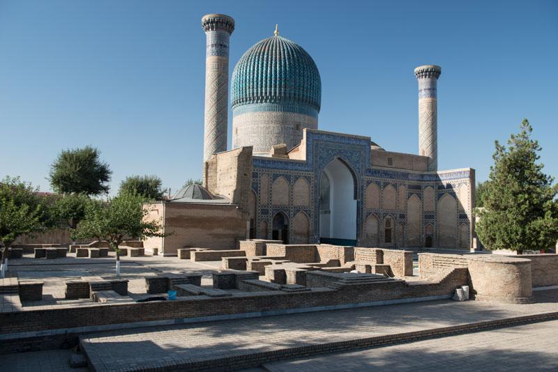 Samarkand, Samarqand, Gur-Emir-Mausoleum, Reisen, entlang der, Seidenstraße, Usbekistan, Zentralasien, Reiseberichte, www.wo-der-pfeffer-waechst.de