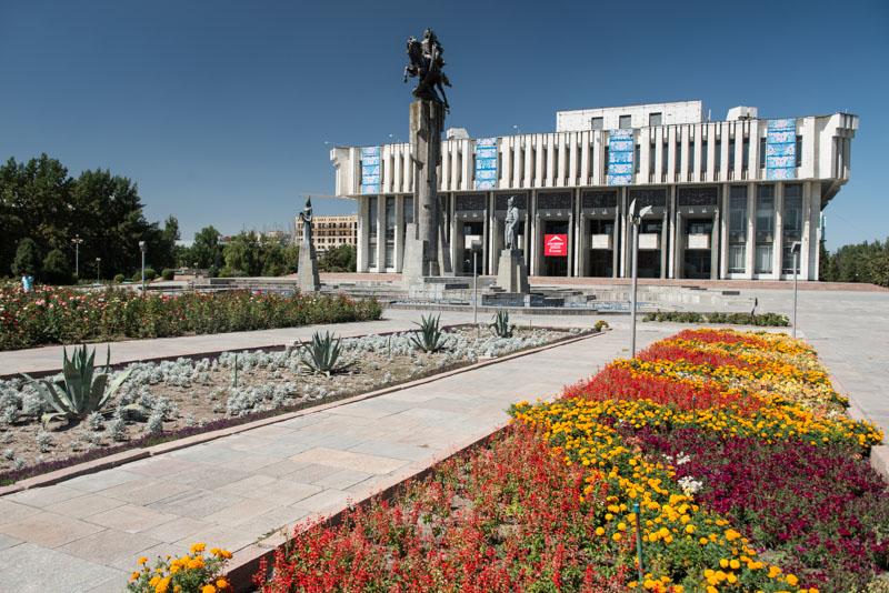 Bischkek, Bishkek, Frunse, Hauptstadt, Zentrum, Chuy-Prospekt, Kirgisistan, Kirgistan, Kirgisien, Seidenstraße, Zentralasien, Reiseberichte, www.wo-der-pfeffer-waechst.de