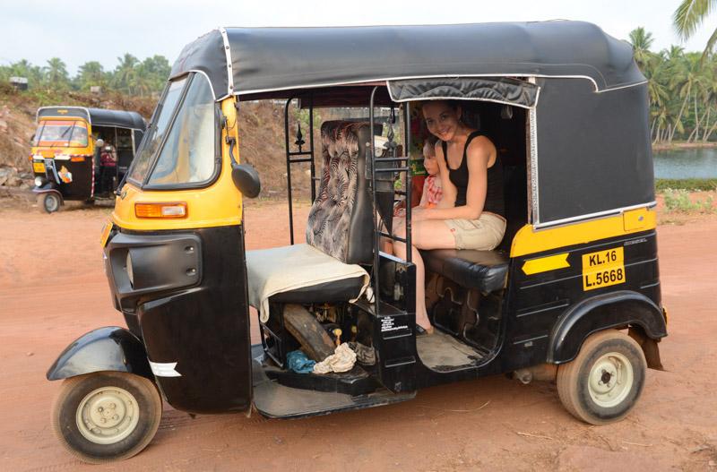 Rikscha, Ausflüge, Touren, Varkala, Indien, Südindien, Kerala, Reisetipps, Reisen mit Kindern, Rundreisen, Asien, Reiseberichte, Reiseblogger, www.wo-der-pfeffer-waechst.de
