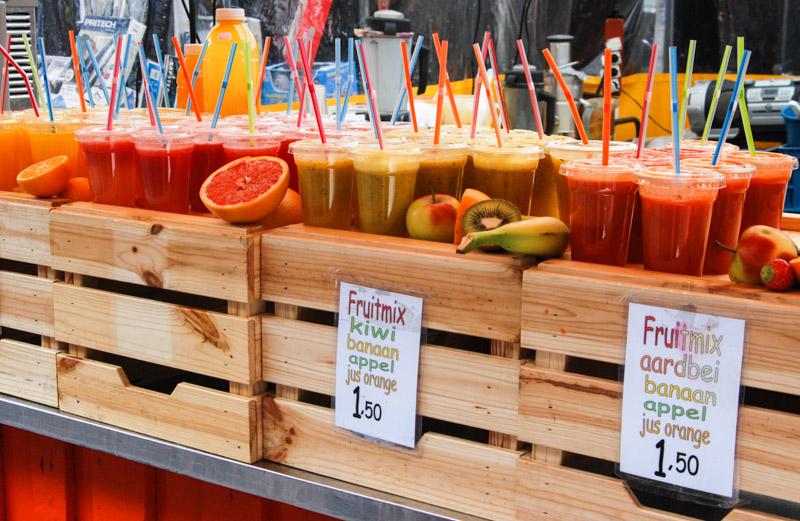 Albert-Cuyp-Markt, Amsterdam, frisch gepresste Säfte, Städtetrip, Urlaub, Niederlande, Holland, Sehenswürdigkeiten, Reiseberichte, Blog, www.wo-der-pfeffer-waechst.de