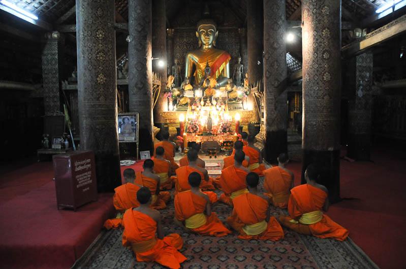 Laos, Nordlaos, Luang Prabang, Luang Phrabang, Louangphrabang, Wat Xieng Thong, buddhistisches Kloster, Tempel, Mönche, Buddha, Reisetipps, Rundreisen, Asien, Reiseberichte, Reiseblogger, www.wo-der-pfeffer-waechst.de