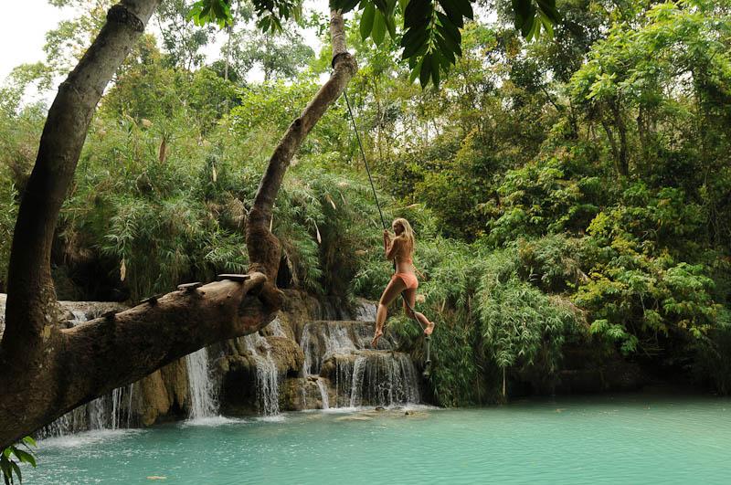 Laos, Nordlaos, Luang Prabang, Luang Phrabang, Louangphrabang, Tad Kuang Xi, Wasserfall, Baden, Wasserfälle, Tad Se, Reisetipps, Rundreisen, Asien, Reiseberichte, Reiseblogger, www.wo-der-pfeffer-waechst.de