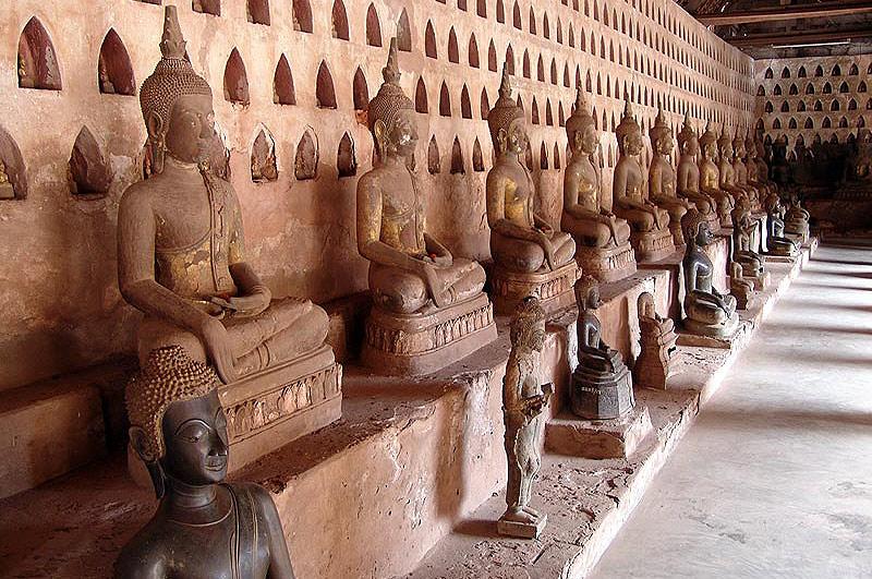 Vientiane, Laos, Hauptstadt, Wat Sisaket, Vat, buddhistisches Kloster, Tempel, Buddhastatuen, Reisetipps, Rundreisen, Asien, Reiseberichte, Reiseblogger, www.wo-der-pfeffer-waechst.de