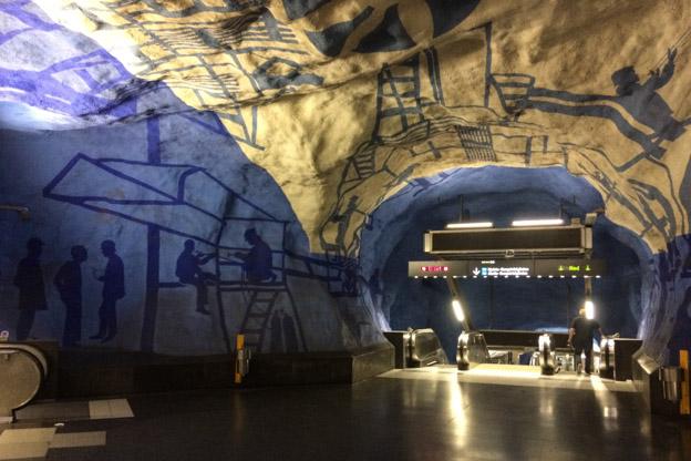 Tunnelbana, U-Bahn, subway, streetart, Stockholm, Schweden, Reise nach Stockholm, Städtetrip, Städtereise, Wochenende, Reisetipps, Urlaub, Skandinavien, Reiseberichte, Blog, www.wo-der-pfeffer-waechst.de