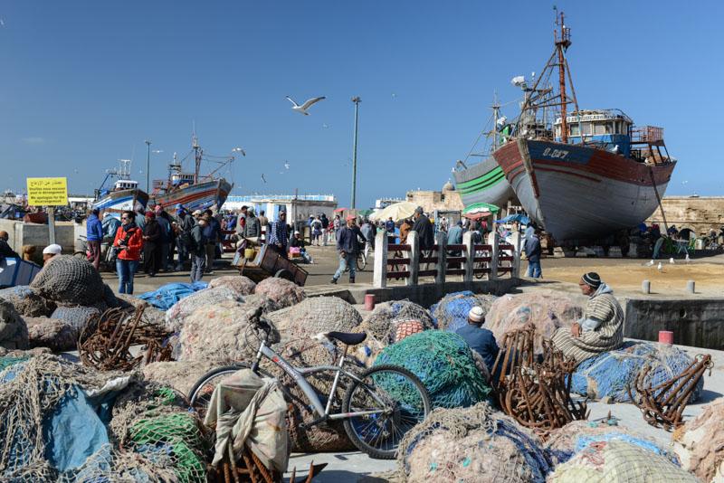 Essaouira, Hafen, harbour, port, Fischernetze, Marokko, Reisen, Bilder, Infos, Reisebericht, Reisetipps, Afrika, Reiseblogger, www.wo-der-pfeffer-waechst.de