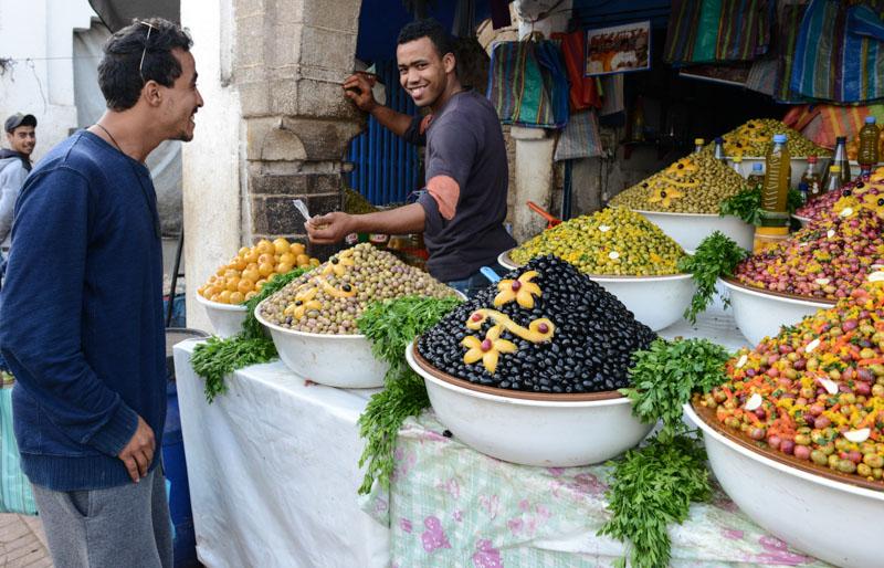 Essaouira, Medina, Altstadt, Markt, Souks, Oliven, Marokko, Bilder, Infos, Reisebericht, Reisetipps, Afrika, Reiseblogger, www.wo-der-pfeffer-waechst.de