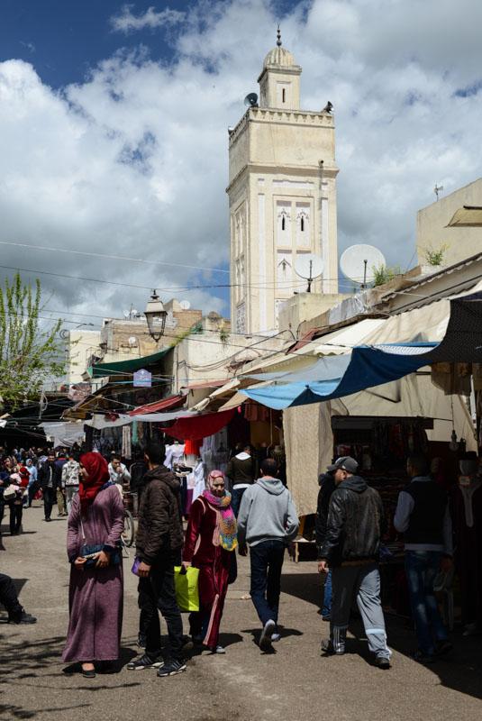 Fes al Djdid, Fès, Fez, Marokko, Souks, Märkte, Minarett, Reisebericht, www.wo-der-pfeffer-waechst.de