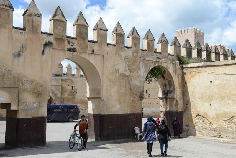 Fes al Djdid, Fès, Fez, Marokko, Stadtmauern, Reisebericht, www.wo-der-pfeffer-waechst.de