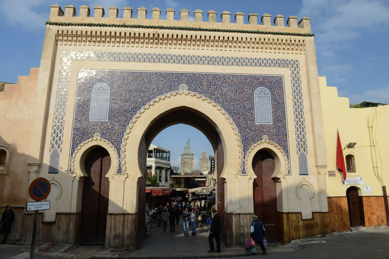 Fes, Fès, Fez, Marokko, Bab Boujloud, Bab Bou Jeloud, blaues Tor, Medina, Altstadt, Reisebericht, www.wo-der-pfeffer-waechst.de