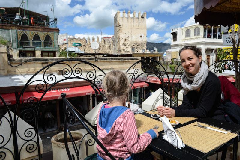 Fes, Fès, Fez, Marokko, Restaurant, marokkanische Küche, vegetarisch, Bab Boujloud, Medina, Altstadt, Reisen mit Kindern, Reisebericht, www.wo-der-pfeffer-waechst.de