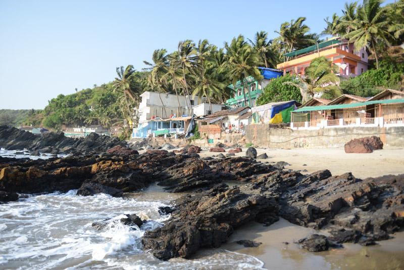 Arambol Beach, Goa, Strände, Norden, Strand, Nordgoa, Felsen, Shops, Reisen in Indien, India, travel, Südasien, Bilder, Fotos, Reiseberichte, www.wo-der-pfeffer-waechst.de