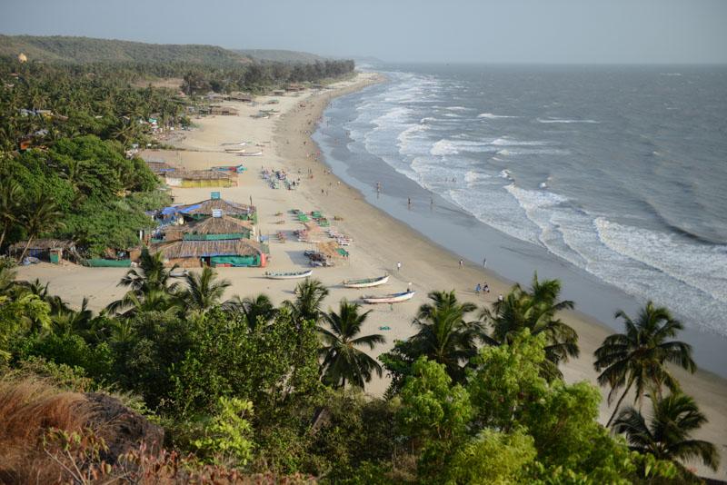 Arambol Beach, Goa, Strände, Norden, Strandurlaub, Nordgoa, Panorama, view, Reisen in Indien, India, travel, Südasien, Bilder, Fotos, Reiseberichte, www.wo-der-pfeffer-waechst.de