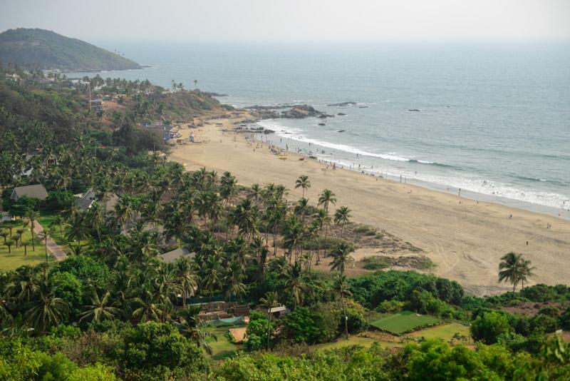 Big Vagator Beach, Goa, Chapora Fort, Strände, Indien, India, Reisen, Südasien, Bilder, Fotos, Reiseberichte, www.wo-der-pfeffer-waechst.de