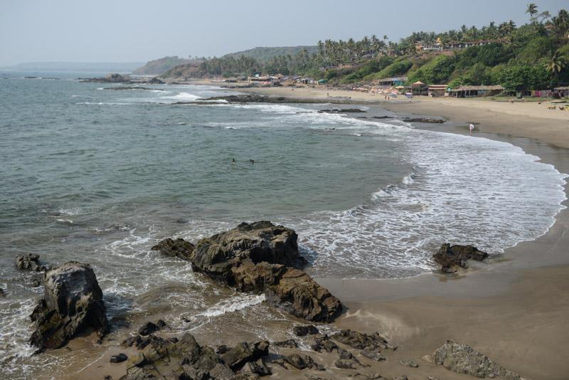 Little Vagator Beach, Ozran Beach, Goa, Strände, Strand, Indien, India, Reisen, Südasien, Bilder, Fotos, Reiseberichte, www.wo-der-pfeffer-waechst.de