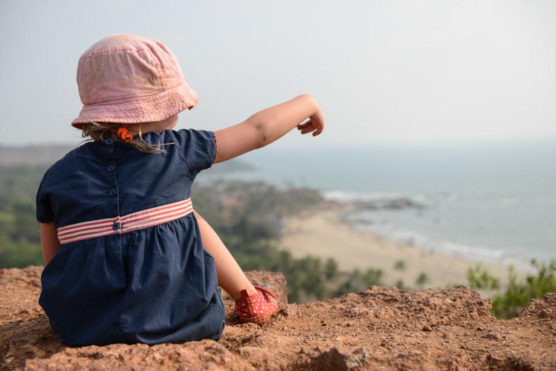 Reisen mit Kindern, Big Vagator Beach, Goa, Strände, Indien, India, Südasien, Bilder, Fotos, Reiseberichte, www.wo-der-pfeffer-waechst.de