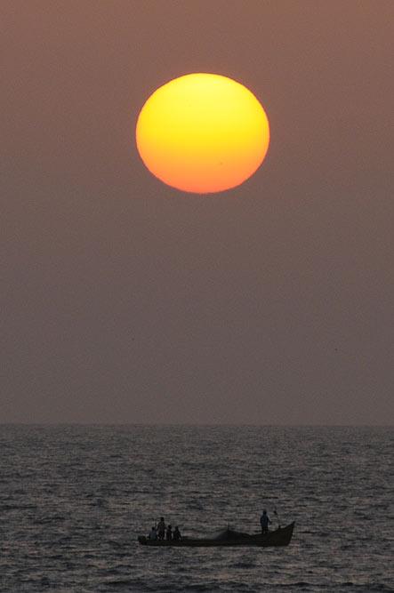 Sonnenuntergang, sunset, Anjuna Beach, Goa, Strand, Strände, Indien, India, Reiseberichte, Südasien, Bilder, Fotos, www.wo-der-pfeffer-waechst.de