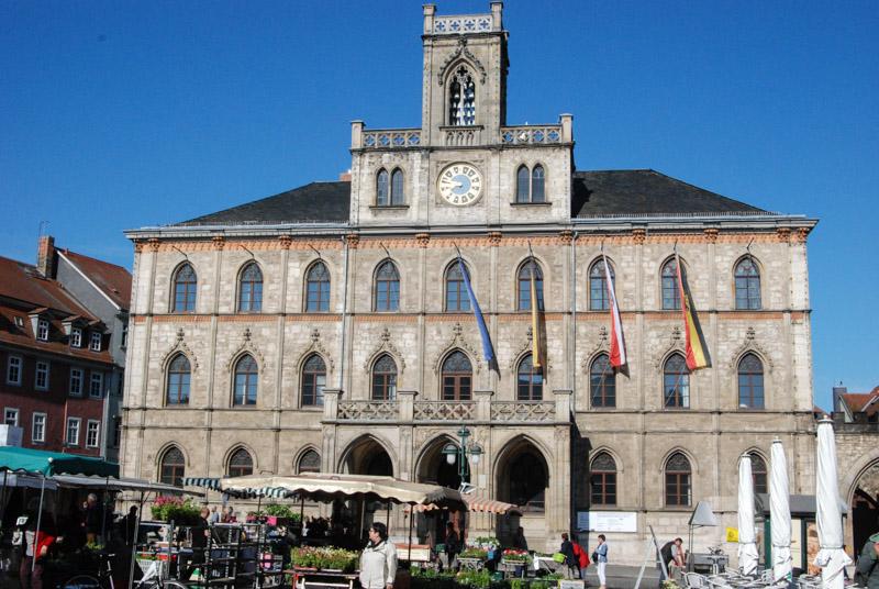 Weimar, Rathaus, Marktplatz, Sehenswürdigkeiten, Städtetrip, Reisebericht, Deutschland, Thüringen, www.wo-der-pfeffer-waechst.de