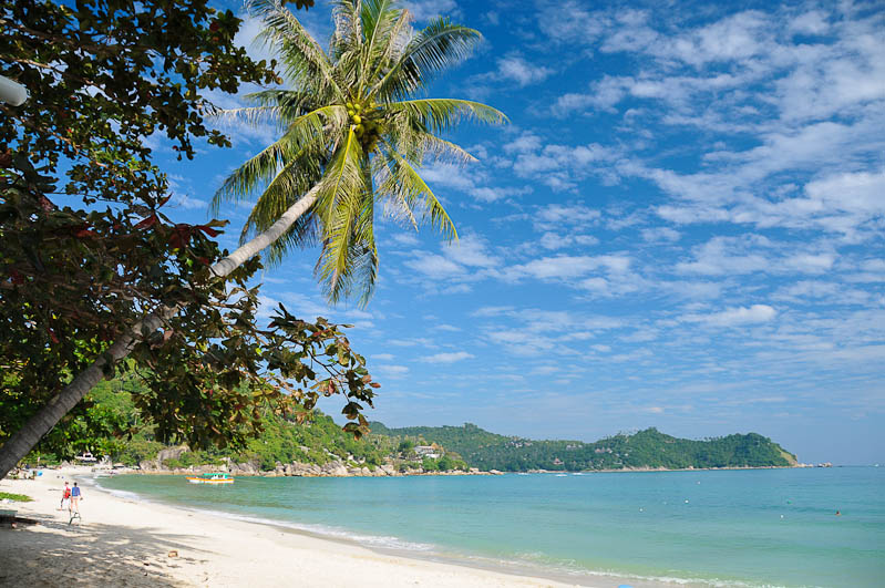 Thailand, thailändische Inseln, Golf von, Koh Phangan, Thong Nai Pan Yai, beach, Strände, Reiseberichte, www.wo-der-pfeffer-waechst.de