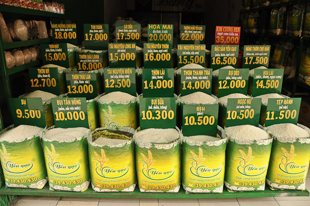 Vietnam, Ho-Chi-Minh-Stadt, CIty, Thai-Binh-Markt, Market, Reis, Rice, www.wo-der-pfeffer-waechst.de