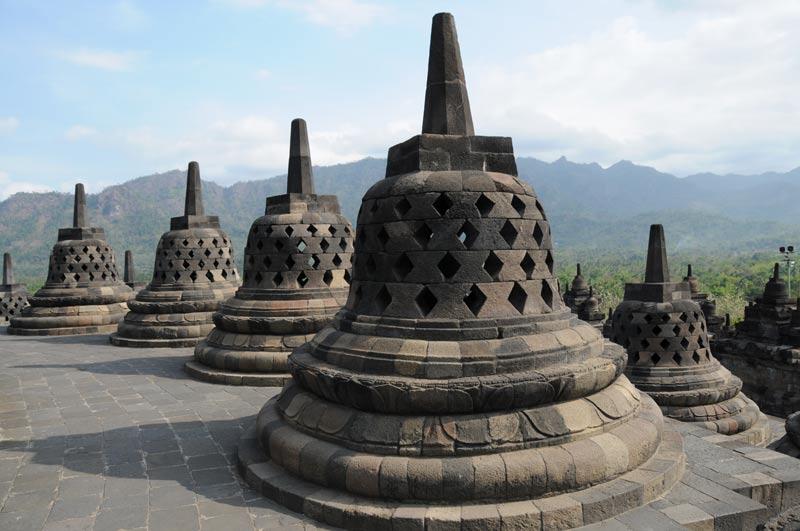 Borobodur, Tempel, temple, Yogyakarta, Java, Indonesien, Stupas, Reiseberichte, Foto: Heiko Meyer, www.wo-der-pfeffer-waechst.de