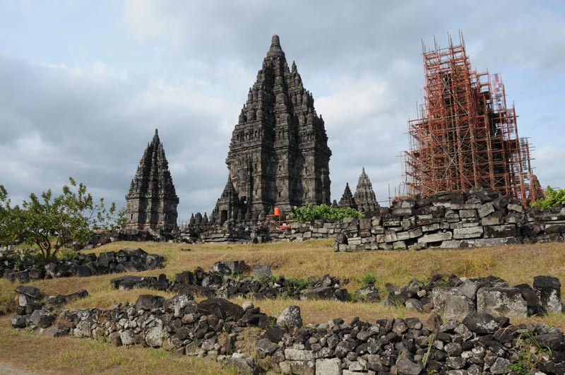 Prambanan, Tempel, temple, Yogyakarta, Java, Indonesien, Stupas, Reiseberichte, Foto: Heiko Meyer, www.wo-der-pfeffer-waechst.de