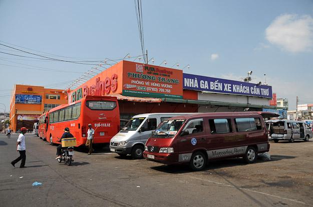 Vietnam, Mekong-Delta, Can Tho, Busbahnhof, station, Terminal, schwimmende Märkte, www.wo-der-pfeffer-waechst.de