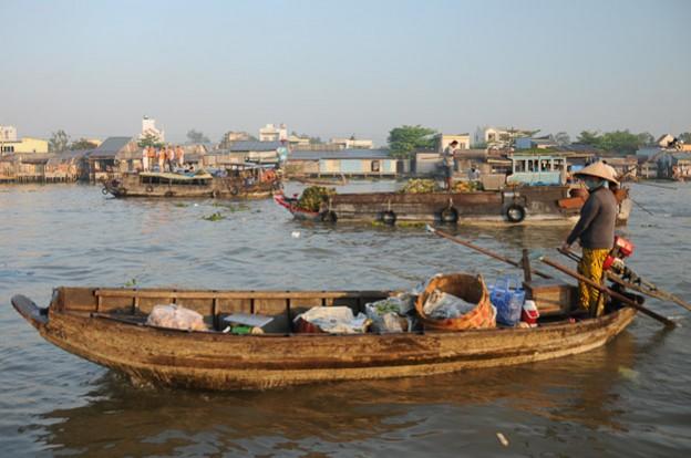 Vietnam, Mekong-Delta, Cai Rang, schwimmende Märkte, Can Tho, Reiseberichte, floating market, www.wo-der-pfeffer-waechst.de