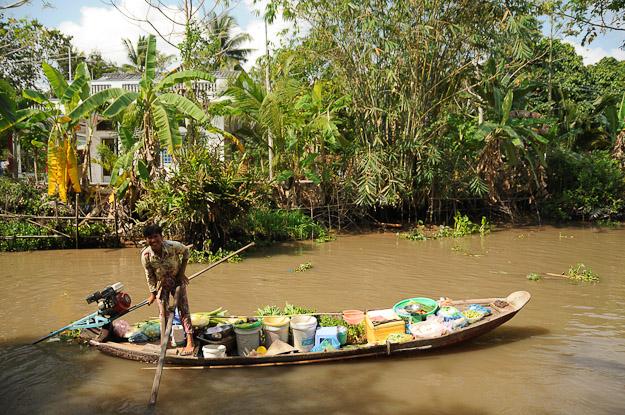 Vietnam, Mekong-Delta, schwimmende Märkte, floating market, Can Tho, Kanäle, www.wo-der-pfeffer-waechst.de