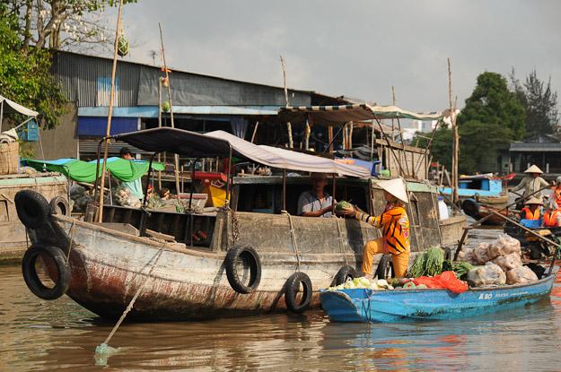 Vietnam, Mekong-Delta, Phong Dien, schwimmende Märkte, floating market, Can Tho, www.wo-der-pfeffer-waechst.de