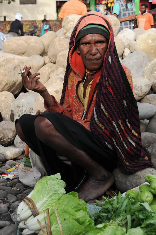 Indonesien, West-Papua, Baliem-Tal, valley, Wamena, Marktfrau, Reisebericht, www.wo-der-pfeffer-waechst.de