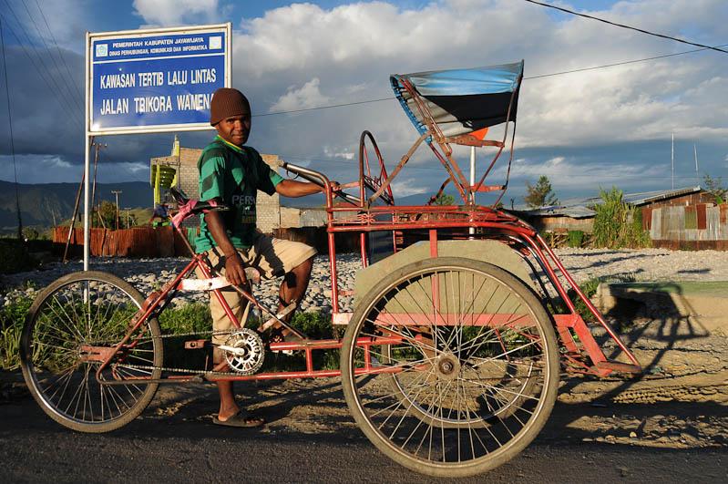 Indonesien, West-Papua, Baliem-Tal, valley, Wamena, Becak, Fahrradrikscha, Reisebericht, www.wo-der-pfeffer-waechst.de