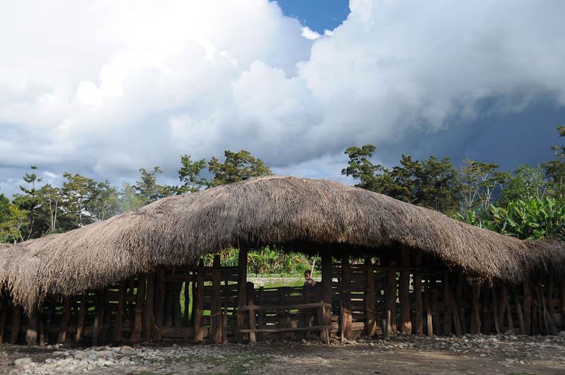 Indonesien, West-Papua, Baliem-Tal, valley, Wamena, Dani, Tribe, Stammesdorf, Eingang, Reisebericht, www.wo-der-pfeffer-waechst.de