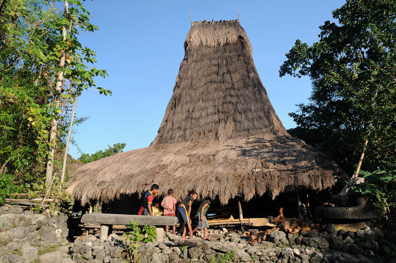 Sumba, Insel, Indonesien, traditionelle Dörfer, Dorf, traditional, village, Haus, Kinder, Marapu, Religion, Reisebericht, www.wo-der-pfeffer-waechst.de