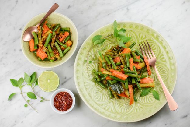 Acar Kuning, gelbes Gemüse, Indonesien, Indonesische, vegetarische, vegane Rezepte, Zutaten, Kochen, www.wo-der-pfeffer-waechst.de