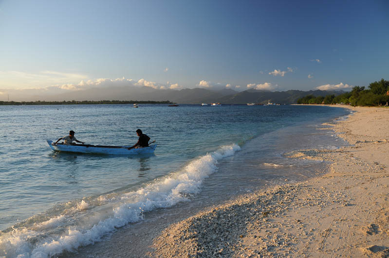 Lombok, Gili Trawangan, Gili Meno, Strand, Beach, Morgenstimmung, Indonesien, Indonesia, Insel, Reiseberichte, www.wo-der-pfeffer-waechst.de