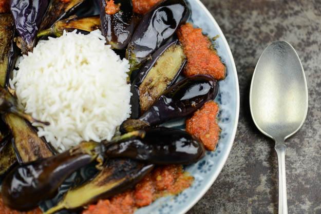 Terong Balado, Auberginen, Sambal, West-Sumatra, Indonesien, Indonesische, Kochen, Rezepte, vegetarische, vegane, Gerichte, Speisen, www.wo-der-pfeffer-waechst.de