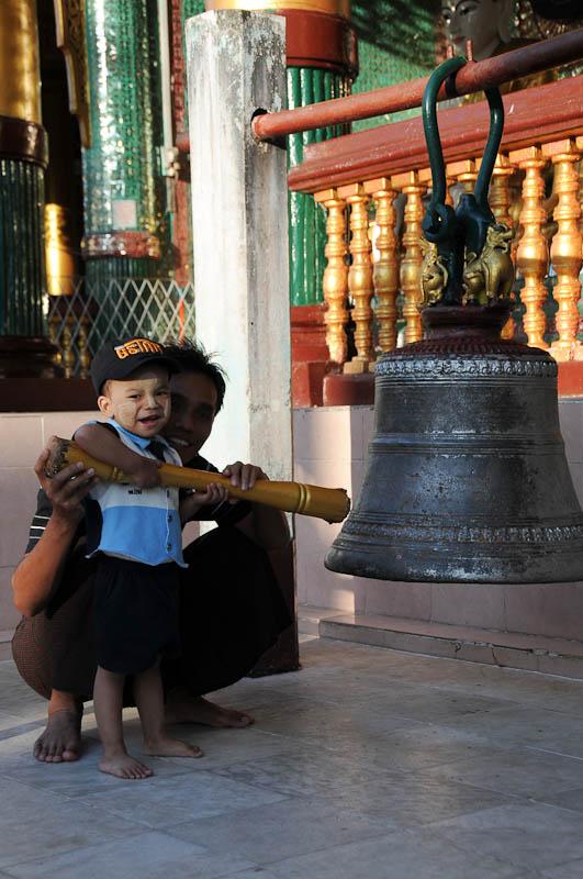 Yangon, Rangoon, Rangun, Shwedagon-Pagode, Pagoda, buddhistischer Tempel, Glocken, Myanmar, Burma, Birma, Reisebericht, www.wo-der-pfeffer-waechst.de