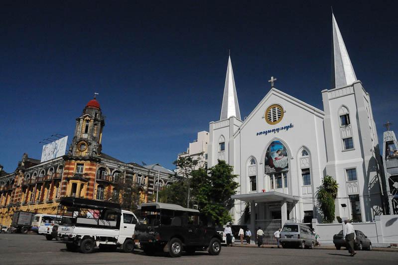 Yangon, Rangoon, Rangun, Kirchen, Myanmar, Burma, Birma, Reisebericht, www.wo-der-pfeffer-waechst.de