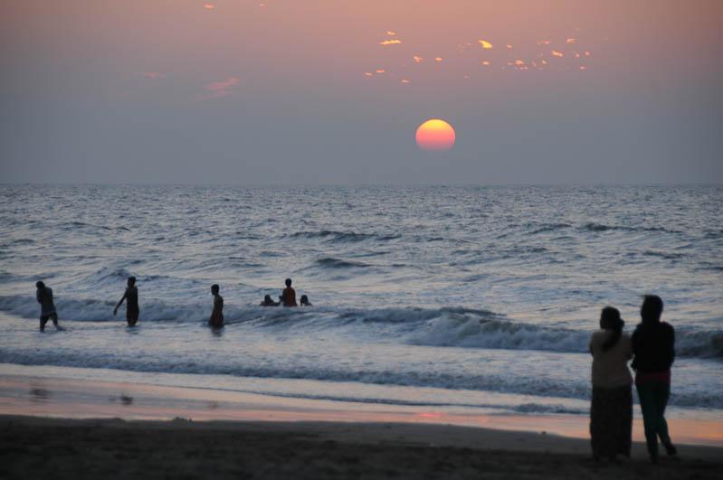 Chaung Tha Beach, Strand, Sonnenuntergang, sunset, Myanmar, Burma, Birma, Golf von Bengalen, Reisebericht, www.wo-der-pfeffer-waechst.de